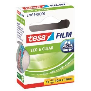 tesafilm Eco & Clear, 19mm x 33m transparent und klar, nahezu