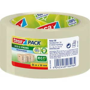 Packband tesapack Eco & Strong, 50mm x 66m, transparent