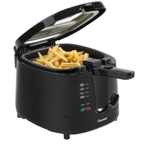 Fritteuse ADF2000 schwarz, 1800W, 2,5L, bis 190°C einstellbar, Wärme-