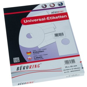 Büroring Etiketten, A4, 70 x 32mm, 2700 Etiketten