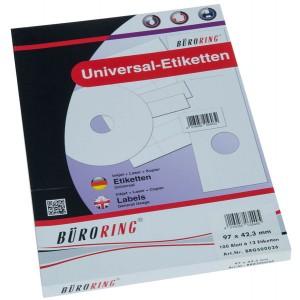 Büroring Etiketten, A4, 97 x 42,3mm, 1200 Etiketten