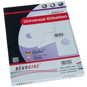Büroring Etiketten, A4, 105 x 42,3mm, 1400 Etiketten