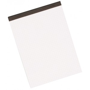 Büroring Notizblock, A4, 50 Blatt, kariert, weiß