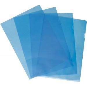 Büroring Aktenhüllen, genarbt, blau, Sichtmappe 120my, PP-Folie