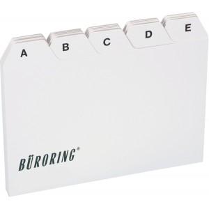 Büroring Leitkarten-Register A4 A-Z, PP-Folie, 25-teilig, grau