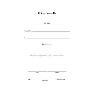 Urkundenrolle A4, 2-seitig bedruckt, Loseblatt-Set, 50 Blatt je Pack