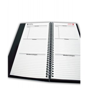 Büroring Fristenkalender 2019 TK2, grün, A5, Maß: 105 x 297