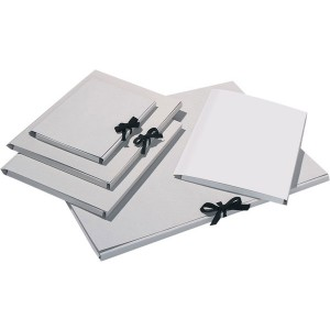 Sammelmappe aus 500g/qm Graupappe DIN A4 ohne Druck, mit Band