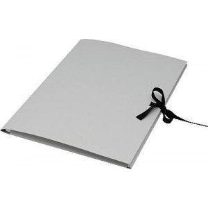 Sammelmappe aus 500g/qm Graupappe DIN A3 ohne Druck, mit Band