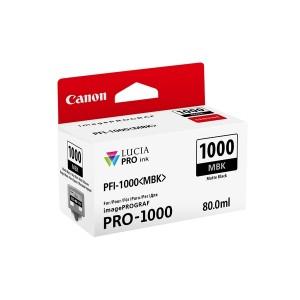 Tinte PFI-1000MBK für Pro-1000, mattschwarz, Inhalt: 80 ml