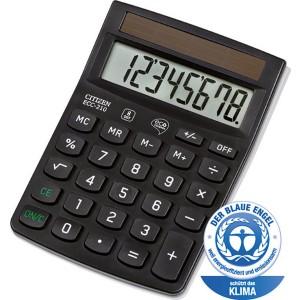 Citizen Taschenrechner ECC-210 8-stelliges Display, schwarz