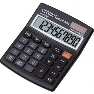 Citizen Taschenrechner SDC-810 BN 10 Stelliges Display, schwarz