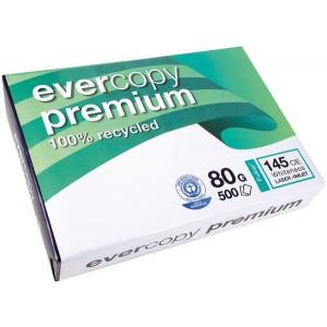 evercopy Recycling Papier A4 ws 80g Weiße 145 CIE f. Laser-, Inkjetdrucker