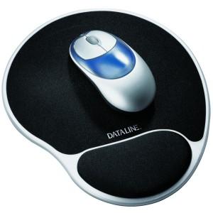 Gel Mousepad silber/schwarz 215x300x25mm