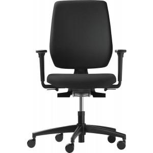 Bürodrehstuhl speed-o comfort mit Armlehnenm, schwarzes Fußkreuz