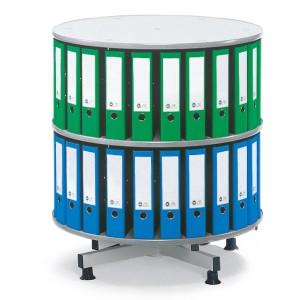 Deskin Ordner-Drehsäule 2 Etagen bis zu 72 Ordner, 1000mm Durchmesser