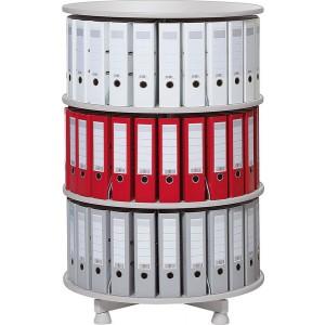 Deskin Ordner-Drehsäule 3 Etagen bis zu 72 Ordner,800mm Ø,einzeln drehbare