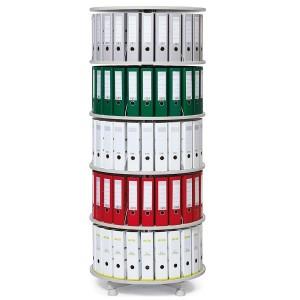 Deskin Ordner-Drehsäule 6 Etagen bis zu 144 Ordner,800mm Ø,einzeln drehbare