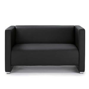 Sofa Zürich, Kunstleder schwarz Elegante Sitzmöbel
