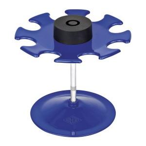 Stempelträger für 8 Stempel, blau, rund