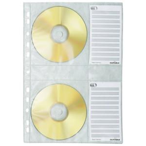 CD-Hüllen für Ringbuch A4 1 Hülle/Blatt passend für 4 CDs