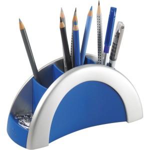 Stifte Butler PEN HOLDER silber/blau 5 Fächer, 205x90x80mm