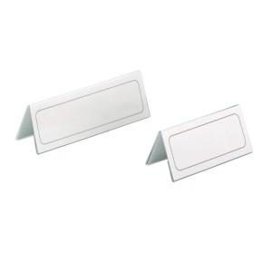 Tischnamensschild 150x63/126mm Kunststoff m Einsteckschild 25St