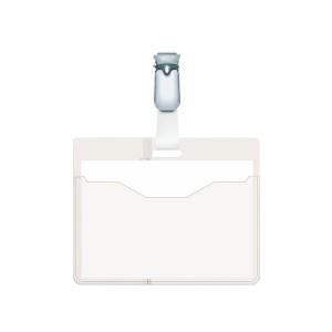 Namensschild Quer Security mit Clip transparent 25 St.90x60cm