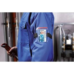Ausweishalter mit Oberarmbefestigung Schlaufe von 7 - 18 cm Ø verstellbar