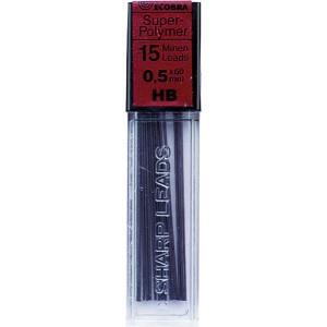 Ecobra Feinminen 0,5mm, HB schwarz passend für alle Druckbleistifte