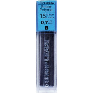 Ecobra Feinminen 0,7mm, B, schwarz passend für alle Druckbleistifte