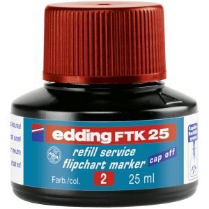 Edding FTK25 Nachfülltusche 25ml rot für Flipchartmarker