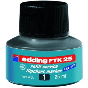 Edding Nachfülltusche FTK25 schwarz 25ml für Flipchartmarker
