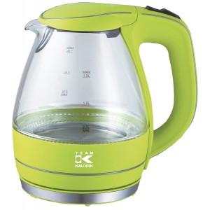 Wasserkocher Glas Design apple green 1,7 L Fassungsvermögen, Kabeldepot,