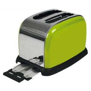 Toaster Design apple green Edelstahlgehäuse, Stopp-Taste,