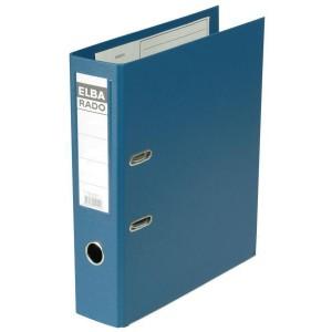 Ordner Rado-Plast A4 RB 80mm blau aus PVC, Sichttasche am Rücken