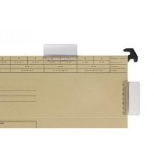 Sichtreiter mit Beschriftungsschild aus PVC, farblos, 50x27 mm