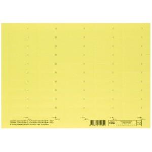 Beschriftungsschildchen f.Vertic 1 Hängeregistratur - gelb