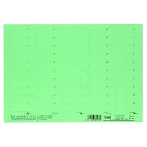 Beschriftungsschildchen f.Vertic 1 Hängeregistratur - grün