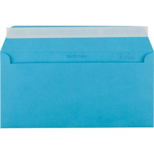 Briefumschlag C5/6 DL mit Fenster HK intensiv-blau 100g 229x114mm