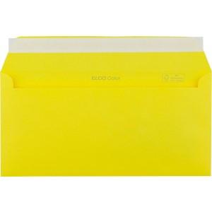 Briefumschlag C5/6 DL mit Fenster HK intensiv-gelb 100g 229x114mm