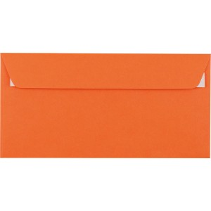Briefumschlag C5/6 DL mit Fenster HK orange 100g 229x114mm