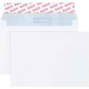 Briefumschlag hochweiss mit grauem Innendruck, C6, 100 g, Haftklebung.