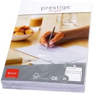 Briefumschlag weiss, C6, 120 g, FSC-Papier, Haftklebung, ohne