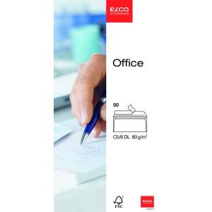 ELCO FSC Briefumschlag C5/6 HK hoch- weiß 80g Innendruck 229x114mm