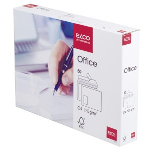ELCO FSC Briefumschlag C4 HK hoch- weiß m.F. 120g Innendruck 324x229mm