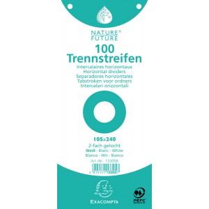 Trennstreifen weiß 190g/qm Karton, 105 x 240 mm, gelocht