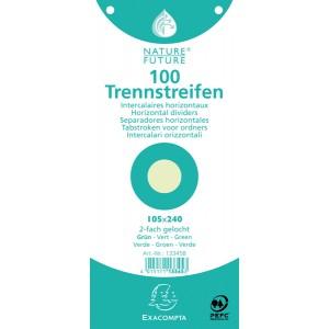 Trennstreifen grün 190g/qm Karton, 105 x 240 mm, gelocht