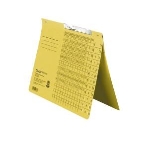 Pendelhefter, kaufmännische Heftung, mit Schlitzstanzung, gelb,