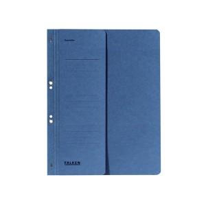 Ösenhefter, blau, DIN A4, 250g/qm Manila-RC-Karton, 1/2 Vorderdeckel,